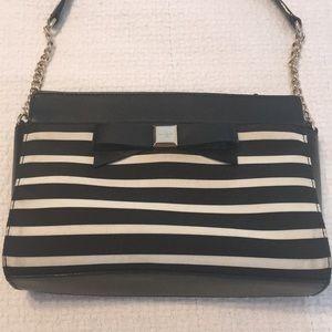 Kate Spade striped crossbody purse bag